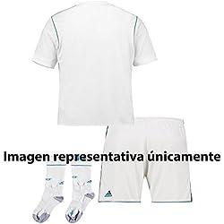 adidas Real Madrid Mini Kit Temporada 2017/2018, Niños, Blanco, 12-13 Años