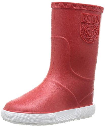Boatilus Nautic, Bottes de pluie mixte enfant - Rouge (Rouge Fraise/Blanc), 28 EU (10 UK)