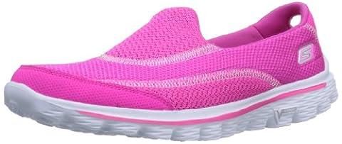 Skechers GO Walk 2, Damen Sneakers, Pink (HPK), 40 EU