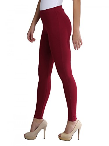 FashGlam Women Premium Ankle Length Cotton Legging - Maroon