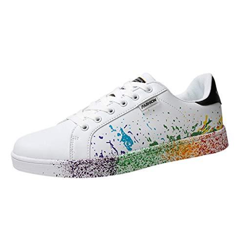 Fannyfuny Unisex-Erwachsene Superstar Low-Top Sneakers Damen Skater Sneaker Freizeitschuhe Running Schuhe Straßenlaufschuhe Sneaker Schnürer Paar Schuhe Grün, schwarz, blau