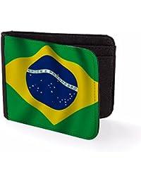Billetera Impresa para Hombre & Tarjetero Bandera de Brasil