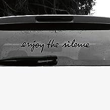 Rose 30cm weiß Auto Tür Fenster Möbel Dekofolie Depeche Mode Aufkleber Tattoo