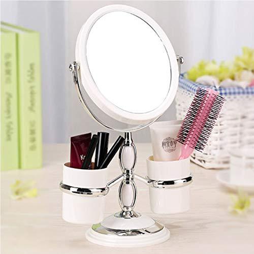 Europäische Kosmetikspiegel Desktop Aufbewahrungsbox Spiegel Doppelseitige Kosmetikspiegel 3-fache Vergrößerung tragbare Hochzeit Prinzessin Spiegel-A4