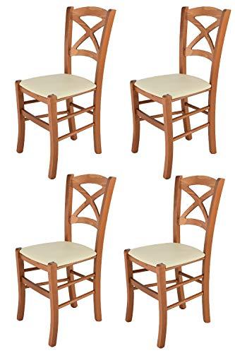 Tommychairs sillas de Design - Set de 4 Sillas Modelo Cross para...