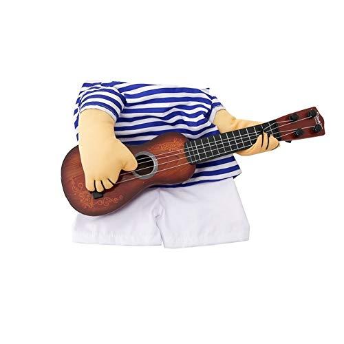 7°MR Hundekleidung Funny Pet Guitar Player Hund Katze Kostüm Gitarrist Dressing Up Party Weihnachten Neujahr Kleidung für Hund Katzen Kostüm für eine Katze (Color : 1, Size : XL) (Up Dressing Weihnachten Für)