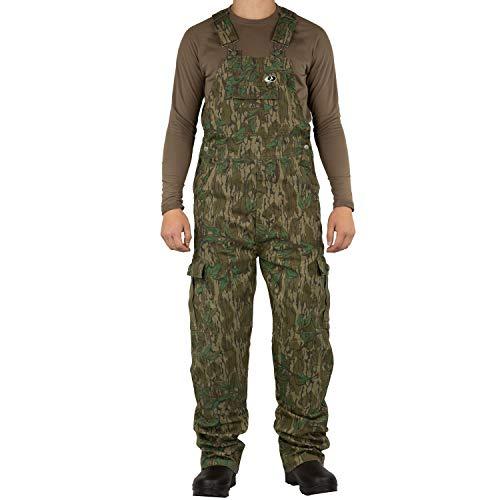 Mossy Oak Herren Jagd-Lätzchen aus Baumwolle Mill 2.0, Herren, Mo Cotton Mill 2.0 Hunt Bib, Greenleaf, Medium -
