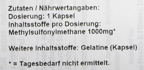 Doctor's Best MSM with OptiMSM 180 vegane Tabletten glutenfrei sojafrei, 1000 mg
