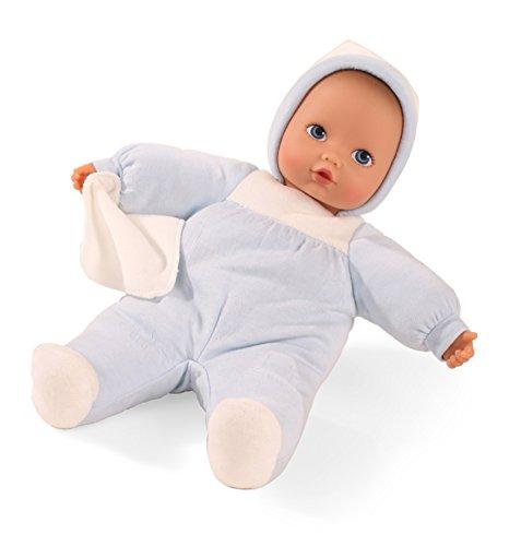Baby-puppe Shirt (Götz 1591120 Baby Pure blauer Elefant Puppe - 33 cm große Erstlingspuppe ohne Haare, blaue Augen - waschbare Babypuppe - ab 0 Monaten Jahren)