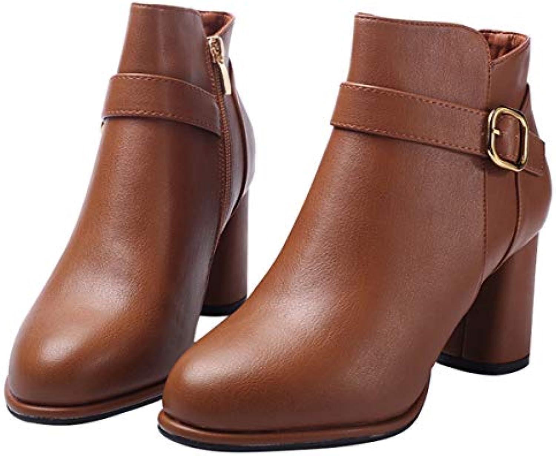 HBDLH Scarpe da donna 7Cm Scarpe col Tacco Alto Le Donne La Moda La Fibbia della Cintura Pesante Armati Testa...   a prezzi accessibili    Scolaro/Signora Scarpa