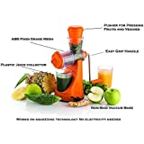 STAR WORK Deluxe Fruit & Vegetable Manual Juicer With Steel Handle Polypropylene Hand Juicer