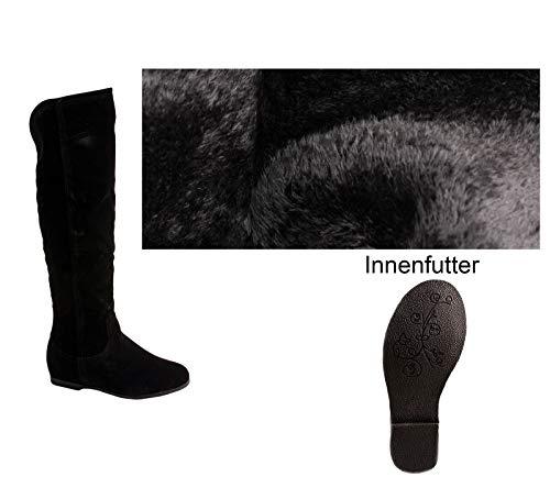 Elara Damen Stiefel Reiter-Boots Chunkyrayan BL195 Black-39