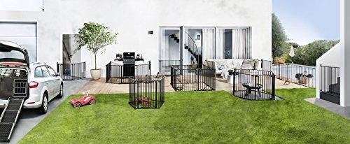 Impag® Treppenschutzgitter 73 – 142 cm für einseitiges Geländer 2 Y-Adapter zum Klemmen ohne Bohren Swing + 10 - 6