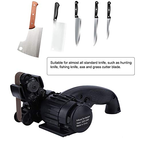 Set professionale per affilare coltelli, forbici e coltelli elettrici, nastro abrasivo, spina uk