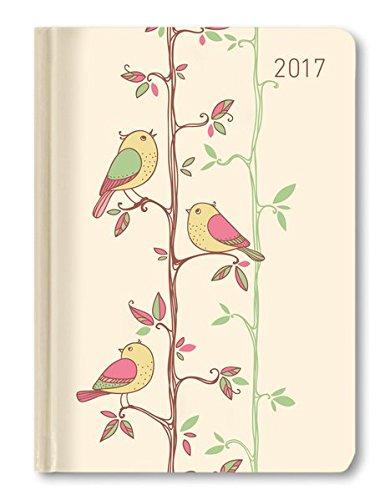 Buchkalender Mini Style Twitter 2017 - Taschenplaner / Taschenkalender A6 - Day By Day - 352 Seiten