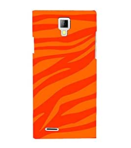Fiobs Designer Phone Back Case Cover Micromax Canvas Xpress A99 :: Micromax A99 Canvas Xpress ( Tiger Print Fire Type )