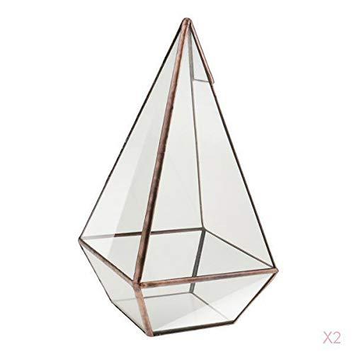 SM SunniMix Glas Geometrische Terrarium Pyramide Tisch Blumentopf Hochzeit