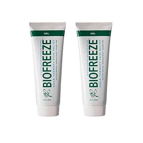 Biofreeze Kälte Therapie Schmerzlinderung Gel Tube 4Oz (Pack von 2)