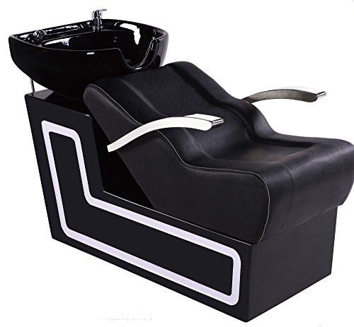 Bobo Angel Backwash Chair Salon Bowl Shampoo Equipment Sink Unit Double Drain Beauty Stylist Station BOSH022