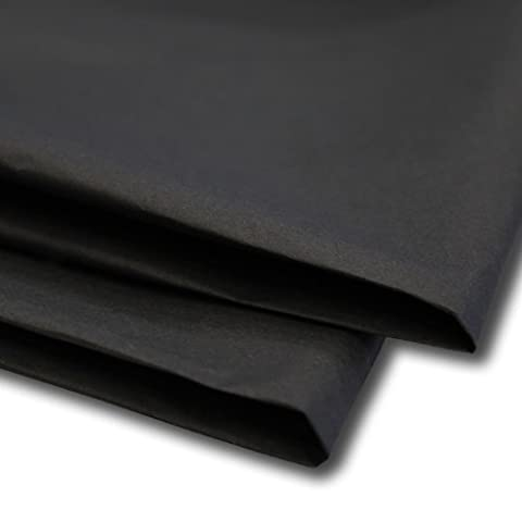 100 x Black Tissue Paper / Gift Wrap / Wrapping Paper Sheets (20 x 30) by Swoosh Supplies