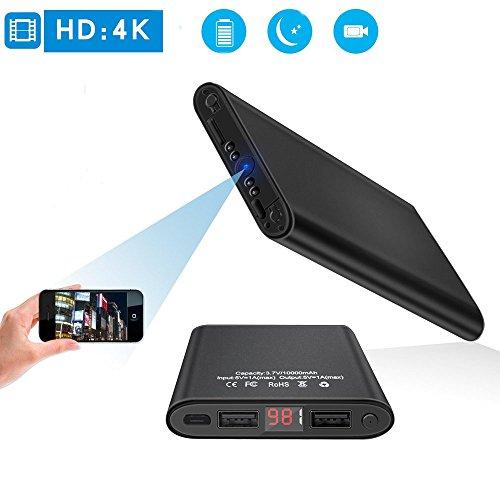 Mini DV HD 4K Caché WiFi Caméra Espion Nuit Vision Motion Détection À  Distance Vidéo en Temps Réel 1200 mégapixels Portable Power Bank 10000 mAh