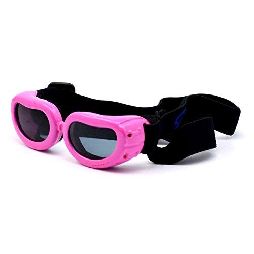 Homedecoam Hund Brille Sonnenbrille UV-Schutz Anti-Fog Brille für Ultra-kleine Hunde Rosa