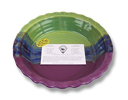 Clay In Motion Handmade Ceramic Deep Dish Pie Plate - Mossy Creek by Clay in Motion Deep Dish Pie Plate