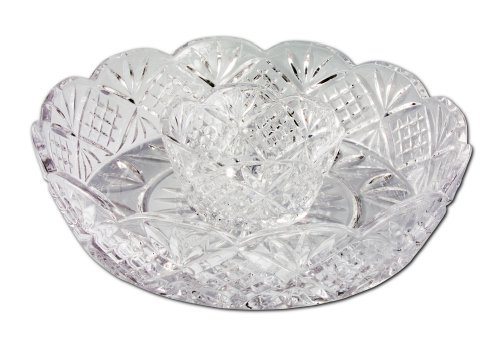 Godinger Dublin 12-Inch Crystal Chip and Dip Dublin-chip