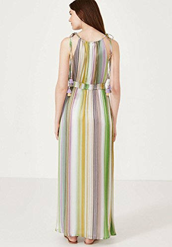 6d0c0039966cbf ... HALLHUBER Seiden-Maxikleid mit Regenbogenstreifen ausgestellter Schnitt  Multicolor ...