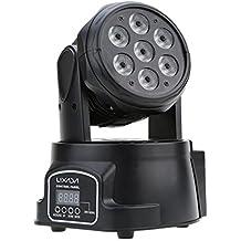 Lixada DMX-512 Mini 4 in 1 RGBW LED Fase Luce Strobo Professionale 9/14 Canali Partito Disco 100W 100-240V AC
