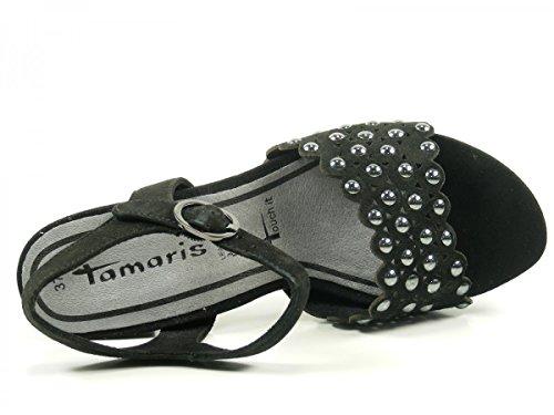 Tamaris 1-28385-38 Schwarz Sandales Pour Femmes