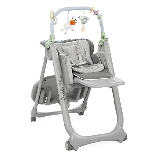Chicco 06079432990000 Hochstuhl Polly Magic Relax, Grau (Dove grey-grau)