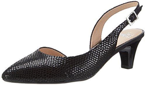 Caprice Damen 29603 Slingback, Schwarz (Black Reptile), 37 EU (Schuhe Schwarz Sling)