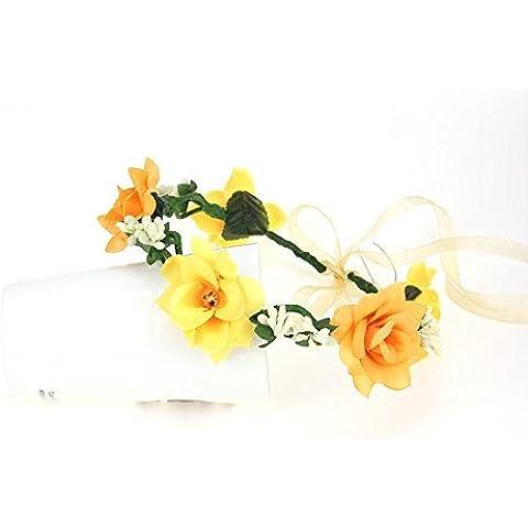 F&HY&L LED brillante guirnalda nupciales tiaras boda adorno creativo de la guirnalda del partido de Corea Festival del arte flores