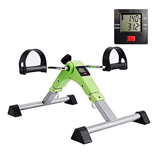 Mini Heimtrainer, Klapp Hause Pedal Exerciser Gym Fitness Bein Arm Cardio Training Einstellbare Widerstand LCD Display Frauen Männer - Indoor-fahrrad-trainer