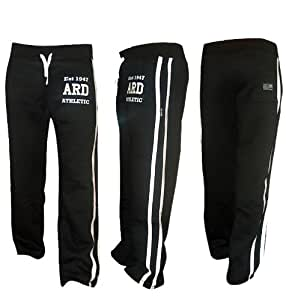 """ARD Men's Fleece Joggers Track Suit Bottom Jogging Exercise Fitness Boxing MMA Gym Sweat Fleece Trousers (Black, Small ( 30-32"""" ))"""