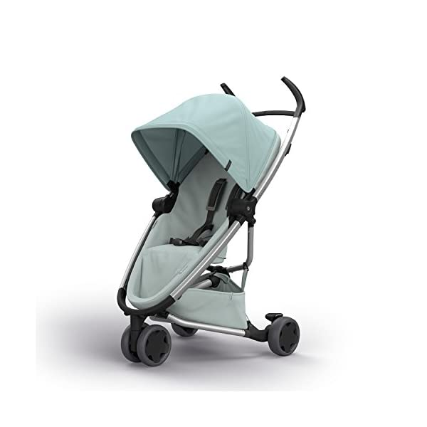 Quinny Zapp Flex Design 2018 Frost on Grey Quinny Flexible reversible seat in both Blick directions down to a horizontal lying position. Three Compact wheels - extremely manoeuvrable Classic Zapp handles - Super Strong Hold, easy to steer 2