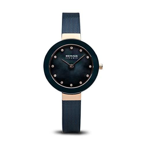 BERING Reloj Analógico para Mujer de Cuarzo con Correa en Acero Inoxidable 11429-367