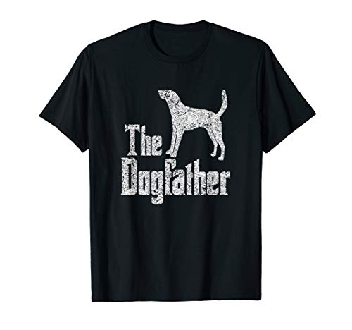 Foxhound Silhouette (The Dogfather T-Shirt American Foxhound Hund Silhouette)