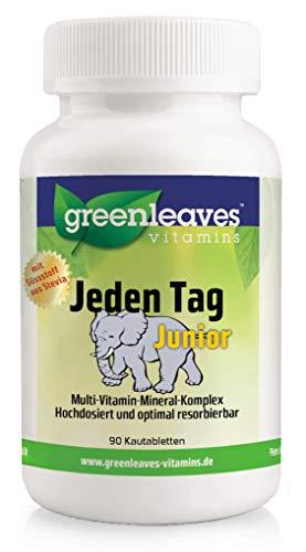 Greenleaves vitamins - Jeden Tag Junior 90 Kautabletten Multi-Vitamin-Mineral-Komplex -