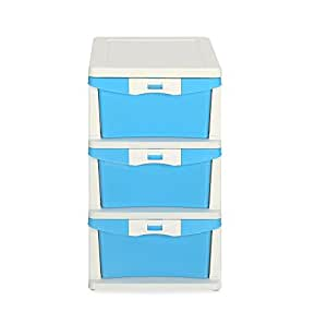 Nilkamal Chester 23 Series Plastic Three Drawer Cabinet (Multicolour)