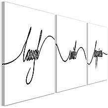 Decomonkey Bilder Aufschrift Sprüchen 120x40 Cm 3 Teilig Leinwandbilder  Bild Auf Leinwand Vlies Wandbild Kunstdruck Wanddeko