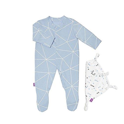 snuz Baby Schlafanzug & Tröster Geschenk Set (0–3m)–Geo Breeze