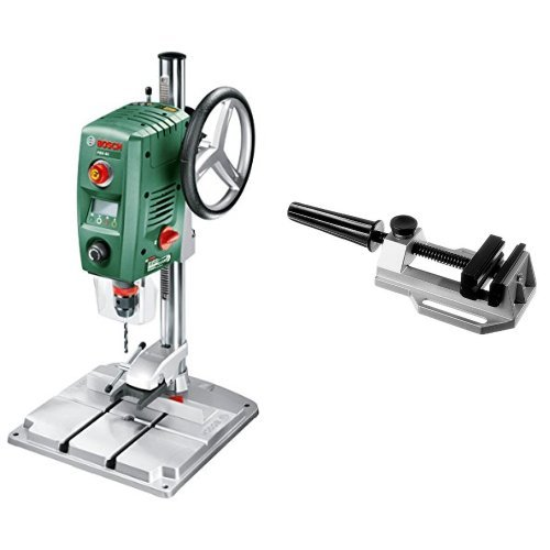 Bosch - PBD 40 - Taladro de columna + 2 608 030 055 - Tornillo de banco MS 80 - 95 mm, 80 mm, 80 mm (pack de 1)