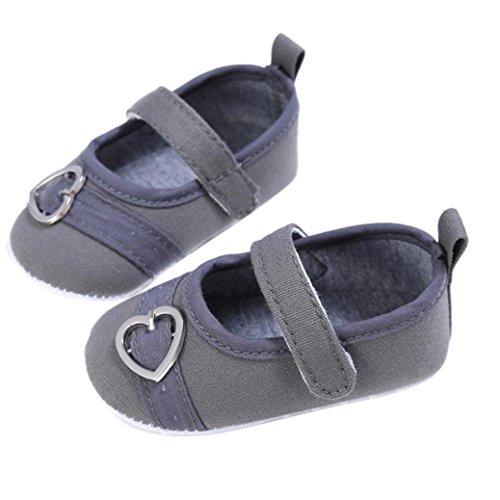 Culater® Le scarpe da ginnastica del bambino del neonato dei capretti dei bambini dei capretti del bambino hanno progettato le scarpe da tennis morbide del bambino Grigio