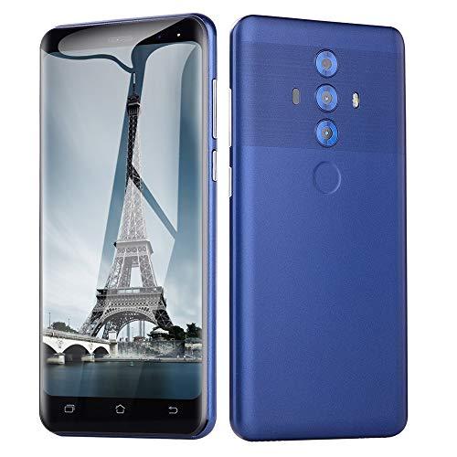 Oasics Smartphone, Neue Art und Weise 5,0 Zoll Doppel-SIM Smartphone Android 6.0 VOLLER Schirm GSM/WCDMA-Touch Screen WiFi Bluetooth GPS 3G Anruf-Handy (Blau)
