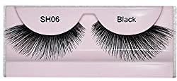 GlamGals Stylish Black Soft Thick Reusable False Eye Lashes For Women