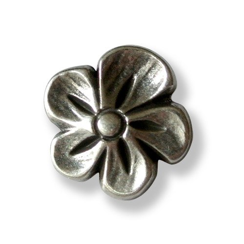 zauberhafte filigrane Metall Knöpfe silber gewölbt Dirndl Tracht 12mm 5 Stück