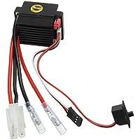 SODIAL Motor cepillado Regulador de velocidad ESC F. 1/10 1/12 RC Para Barco del coche del camion