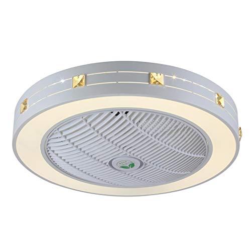 Ceiling Soffitto Ventilatore a Luce LED Dimmerabile Vivaio Camera da Letto Lampada Ufficio Ristorante Soggiorno Illuminazione Decorativa Nursery,A